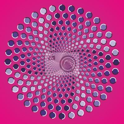 Optische Täuschung Ellipse Farbpunkte