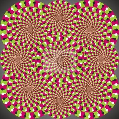 Optische Täuschung Ellipse Kombination