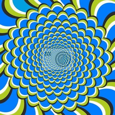 Optische Täuschung Fluss und Spin