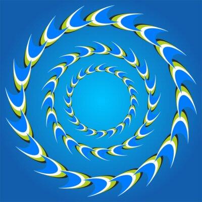 Sticker optische Täuschung Kreis Schwänze