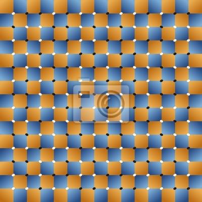 Optische Täuschung Quadrat