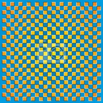 Optische Täuschung Quadrat Grenzen