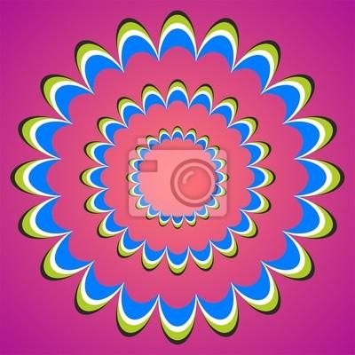 optische Täuschung Sonnenuntergang Blume Kreise