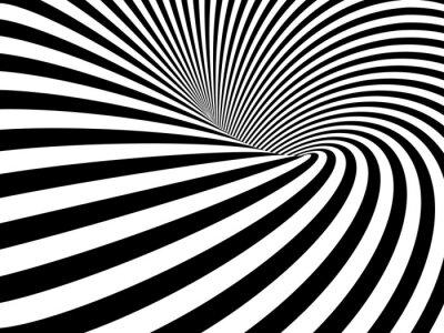 Sticker Optische Täuschung Wurmloch
