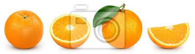 Sticker orange isolated on white