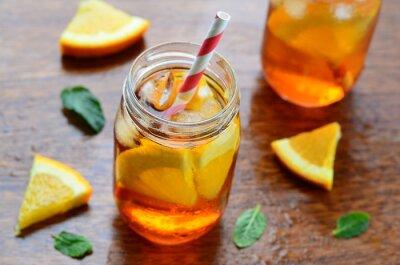 Sticker Orange kaltes Getränk