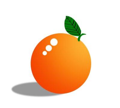 Sticker Orange Obst isoliert