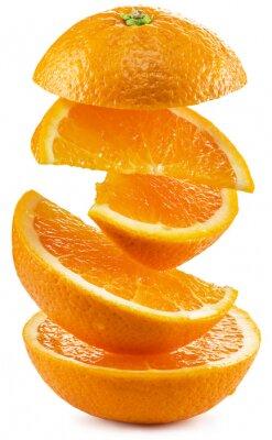 Sticker Orange Scheiben auf weißem Hintergrund.