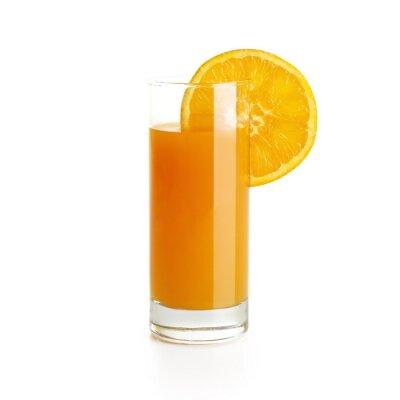 Sticker Orangensaft mit Scheibe