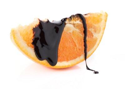 Sticker Orangenscheiben mit geschmolzener Schokolade Themen