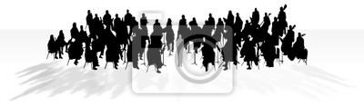 Sticker Orchester im Schatten