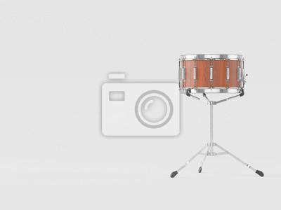 Orchester kleine trommel auf weißem 3d-rendering notebook-sticker ...