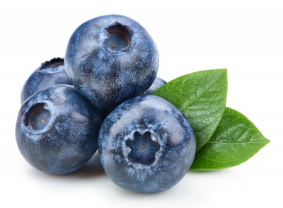 Sticker Organic blueberry isolated on white background