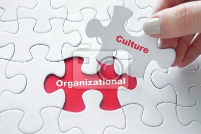 Sticker Organisatorische Kultur auf Puzzle