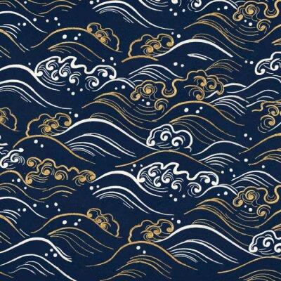 Sticker Oriental art vector design element