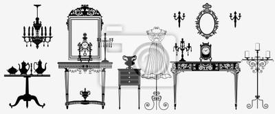original antiken Möbeln Sammlung