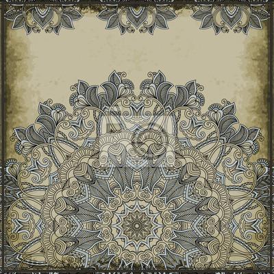 Ornamental Muster auf Vintage Hintergrund. Grußkarte