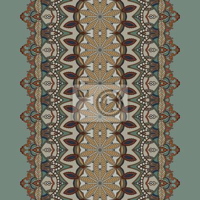 Ornamental nahtlose Muster. Spitzenband