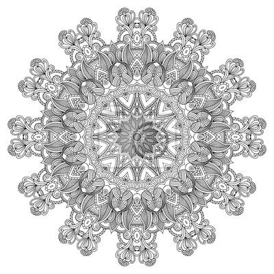 Ornamental Runde. Dekorative Spitze Hintergrund