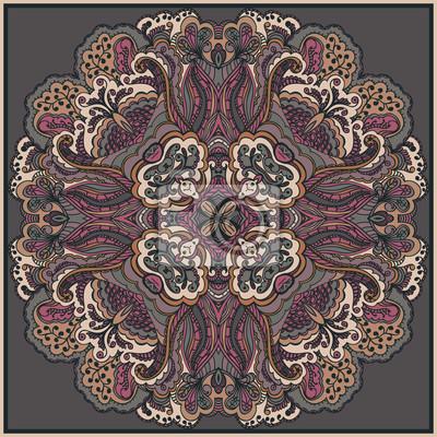 Ornamental runde Spitze. Floral-Design