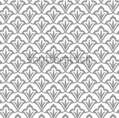 Sticker Ornamentales Muster. Arabisches nahtloses Muster. Marokkanischen Hintergrund.