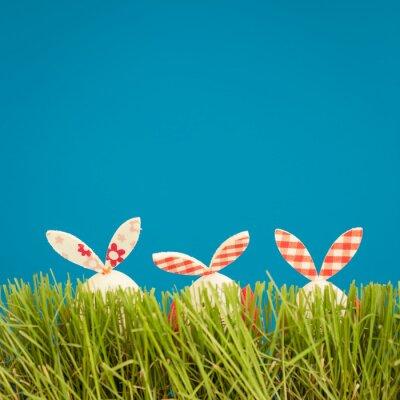Sticker Ostereier auf grünem Gras