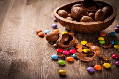 Sticker Ostern Schokolade Hintergrund