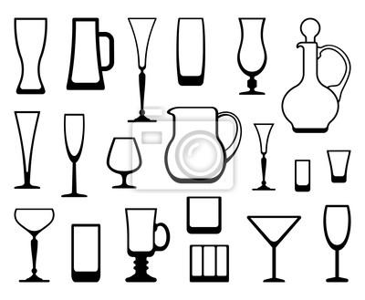 Outlines von Ware aus Glas und Kristall