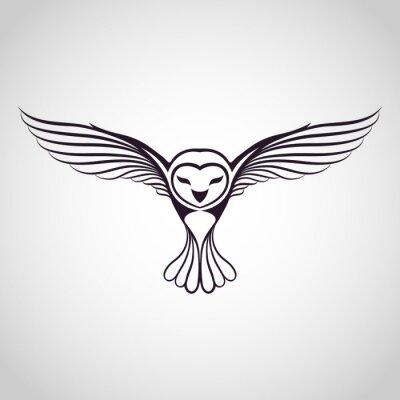 Sticker owl logo