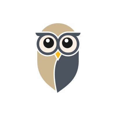 Sticker Owl Logo-Vorlage