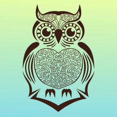 Sticker Owl.vector Abbildung.