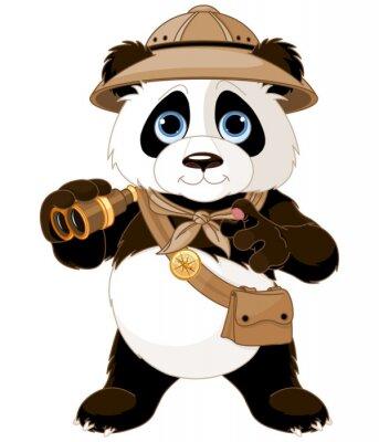Sticker Panda Safari Explorer