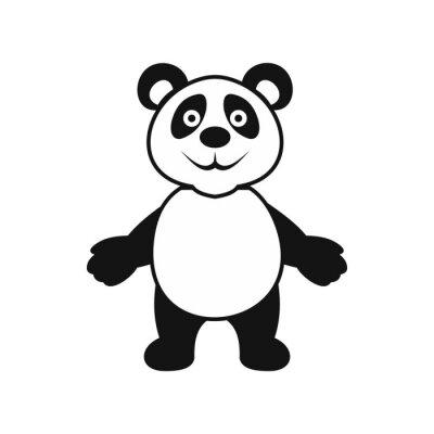 Sticker Pandabären-Ikone, einfache Art