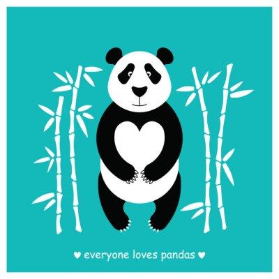 Sticker Pandas tragen flach. Panda Tier isoliert.