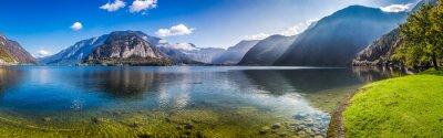 Sticker Panorama der kristallklaren Bergsee in den Alpen