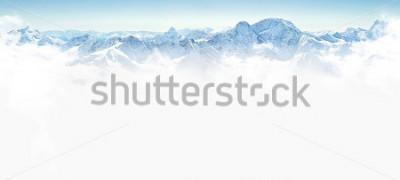 Sticker Panorama von Winterbergen mit Kopienraum
