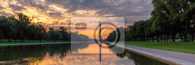 Sticker Panoramic sunrise at Washington Monument, Washington DC, USA