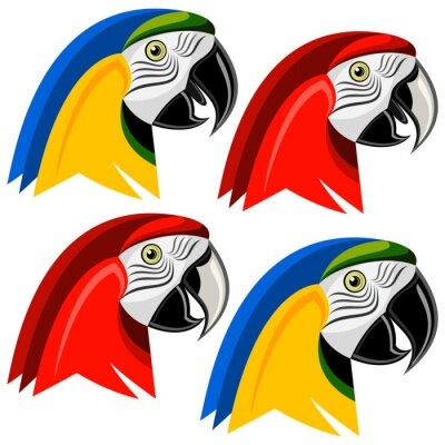 Sticker Papagei