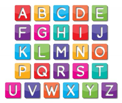 Sticker Papiergroßbuchstaben