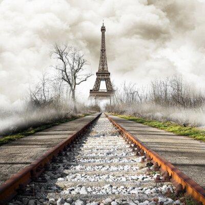 Sticker Parigi in Treno Vintage