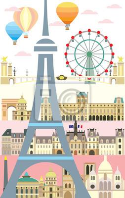 Paris colorful vector 10