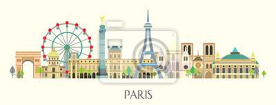 Paris colorful vector 2
