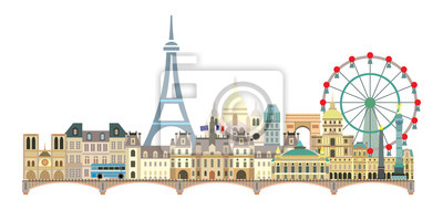 Paris colorful vector 4
