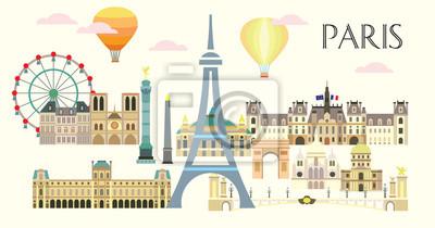 Paris colorful vector 5