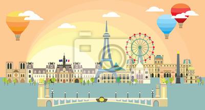Paris colorful vector 6
