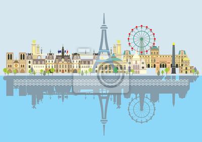 Paris colorful vector 9