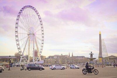 Sticker Paris, Frankreich - 7. Februar 2016: Riesenrad auf der Place de la Concorde in Paris, Frankreich