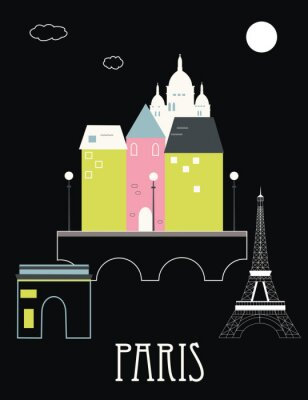 Paris Frankreich. Vektor