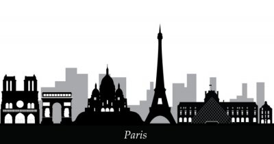Sticker paris skyline