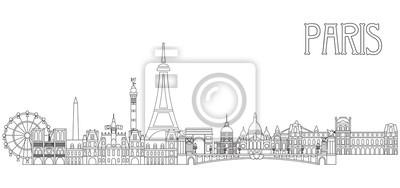 Paris Skyline line art 2